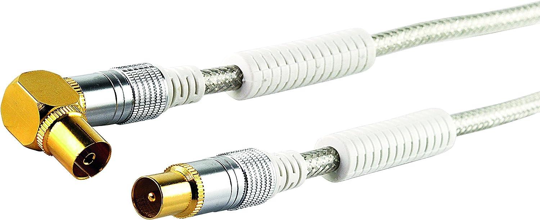 Schwaiger ángulo Cable de Antena con núcleo de ferrita (110 ...