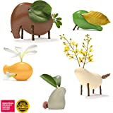 Taksa Toys Locomo Family Multicolored Edition II (Set of 5) - Wooden Animal Figures Open-Ended Educational Outdoor Play…
