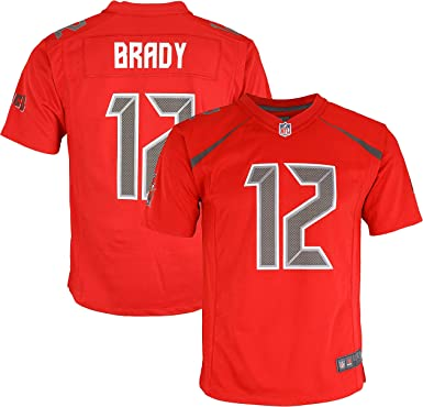 Amazon Com Tom Brady Tampa Bay Buccaneers 12 Red Youth Color Rush Game Day Jersey Clothing