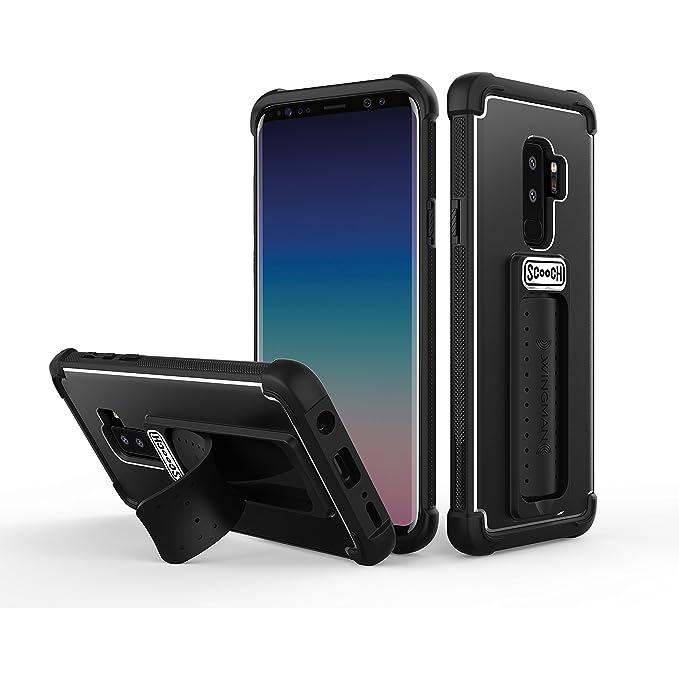 brand new 132c5 2cae6 Scooch Wingman 5-in-1 Case for The Samsung Galaxy S9+ (Black)