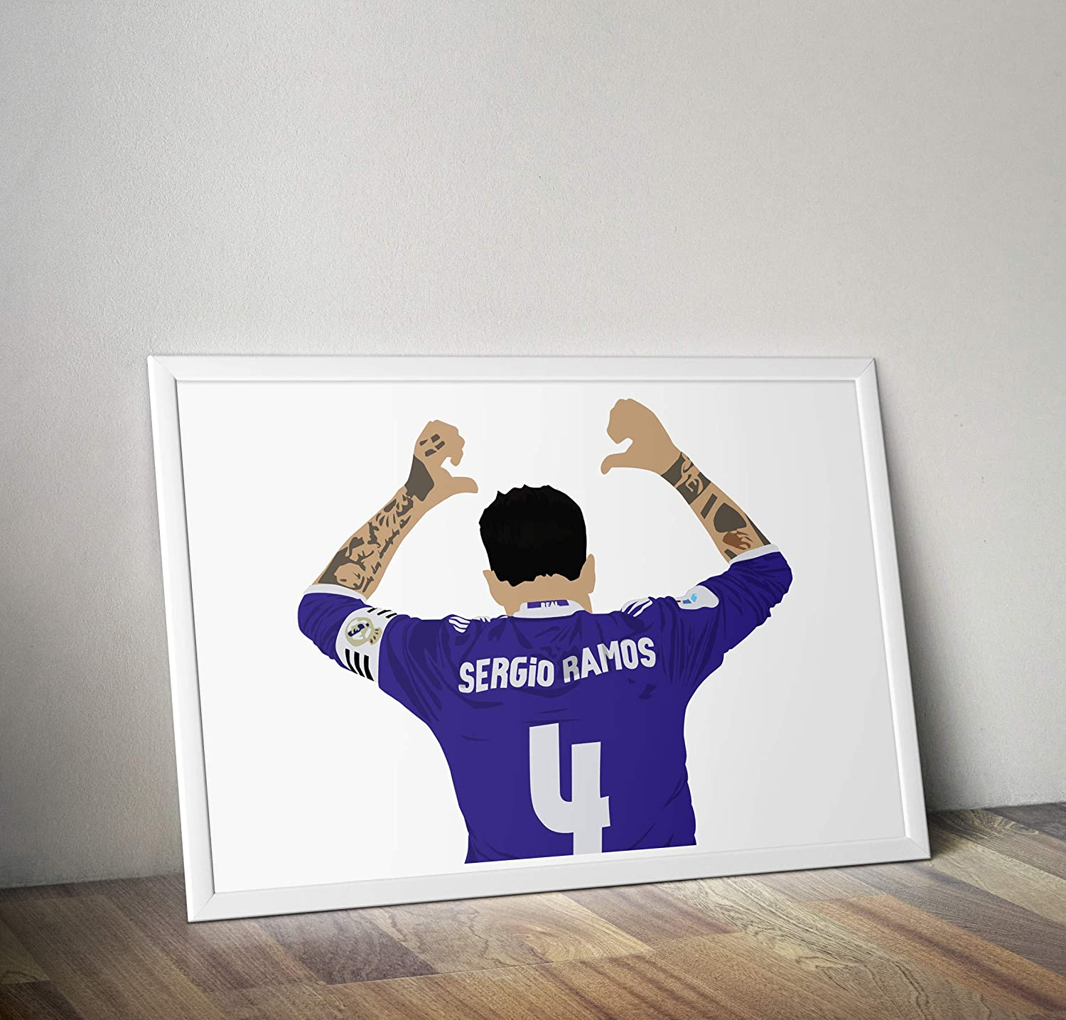 Frame Not Included Sergio Ramos Inspired Poster Minimalist Style Print- Art Various Sizes Available -