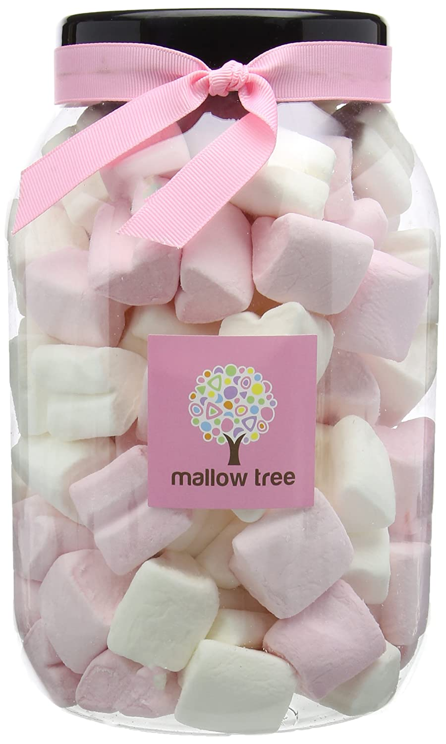 Mallow Tree Strawberry Flavoured Marshmallow Hearts in a Gift Jar ...