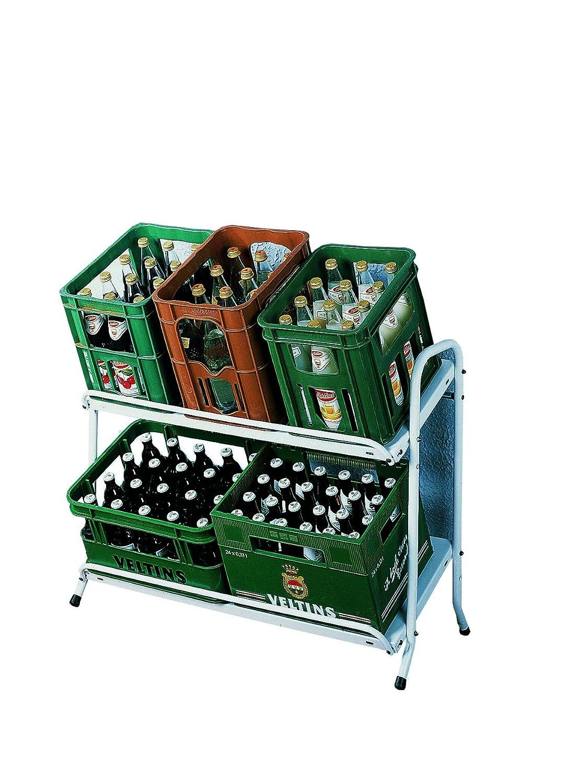 Kastenst/änder Kistenst/änder Kisten Getr/änkeregal Kastenregal Flaschenkastenregal Stahl wei/ß 74,5x95x40cm Schulte