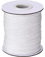 109 Yards/ Roll White Braided Lift Shade Cord for Aluminum Blind Shade, Gardening Plant and Crafts (1.0 mm)