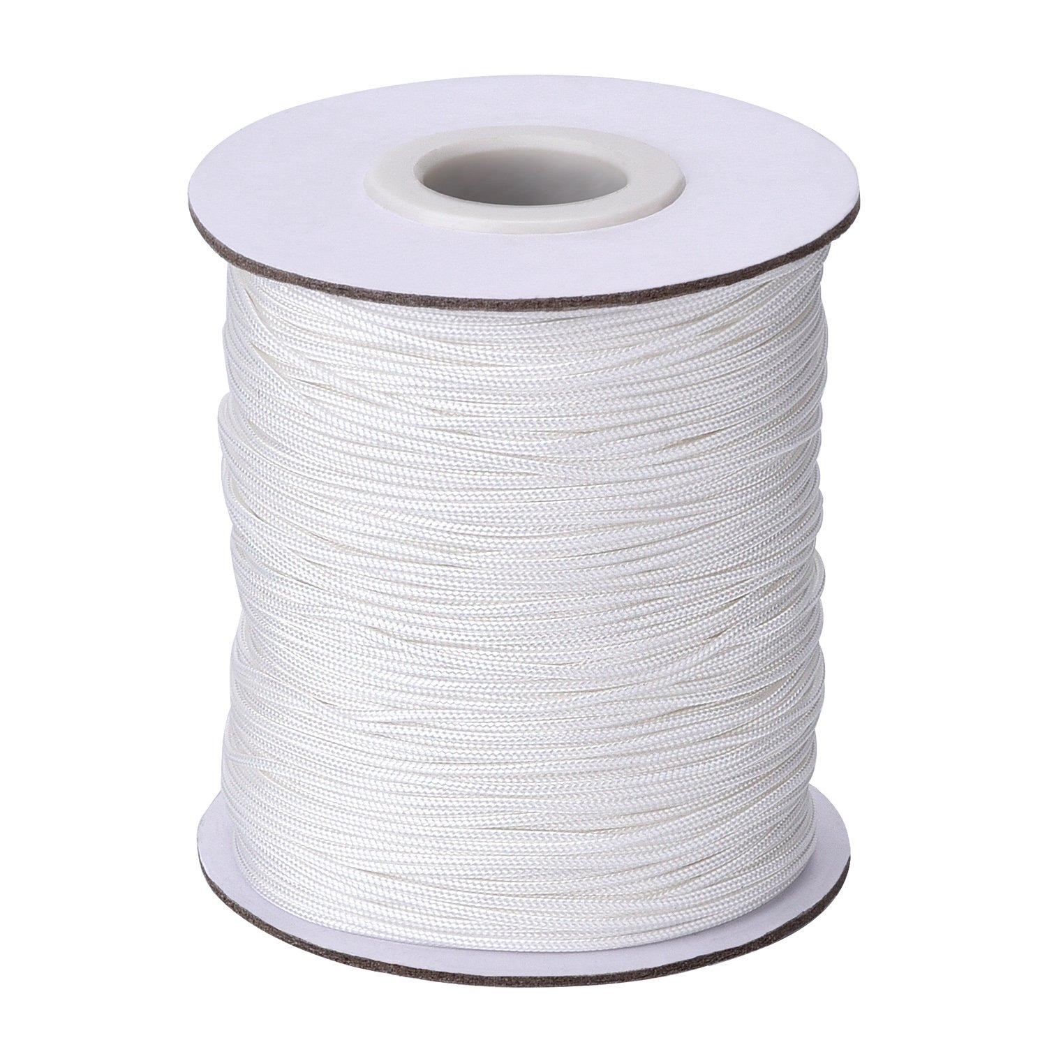 109 Yards/ Roll White Braided Lift Shade Cord for Aluminum Blind Shade, Gardening Plant and Crafts (1.0 mm) Outus 4337027909