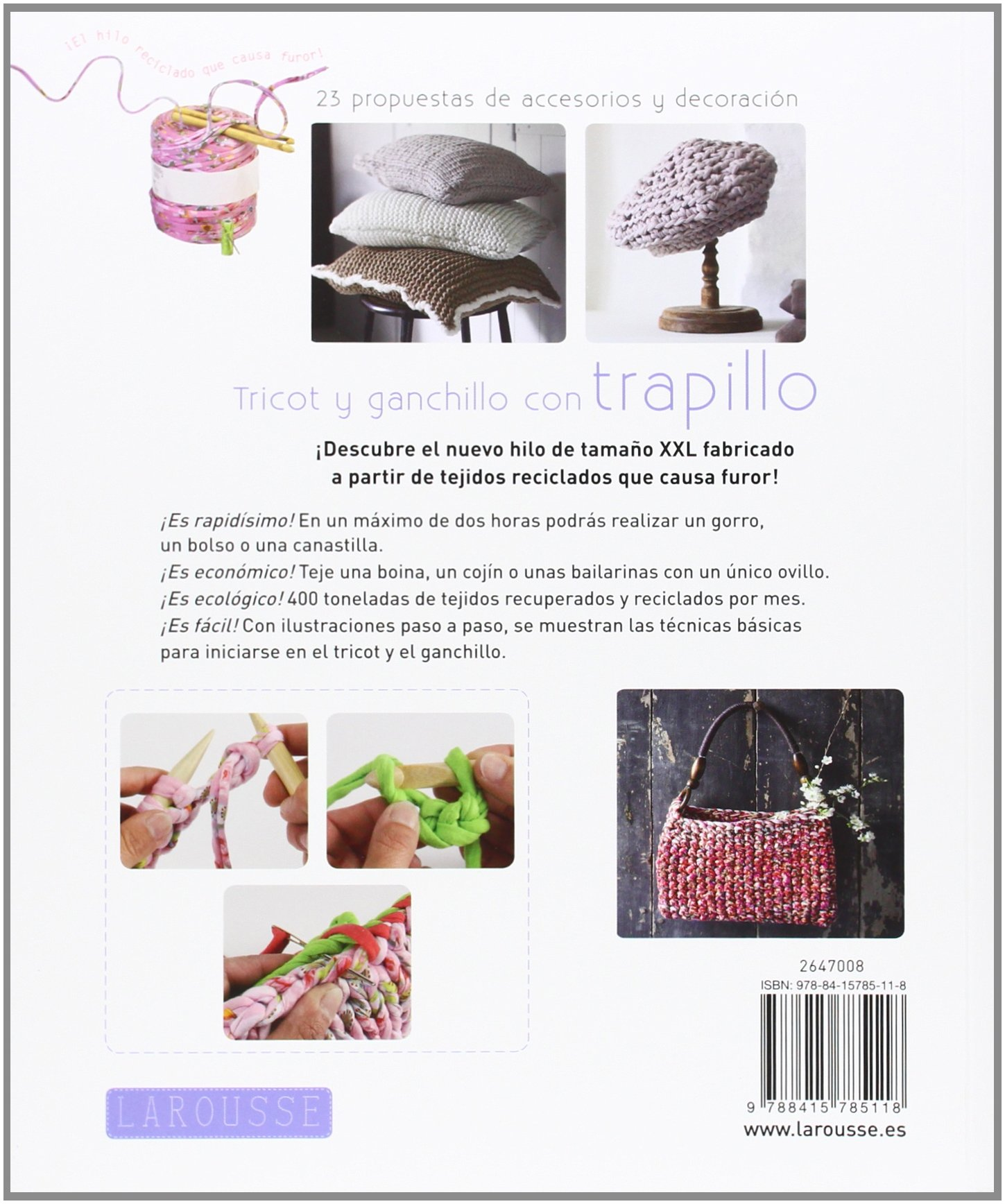 Amazon.com: Tricot y ganchillo con trapillo (9788415785118 ...