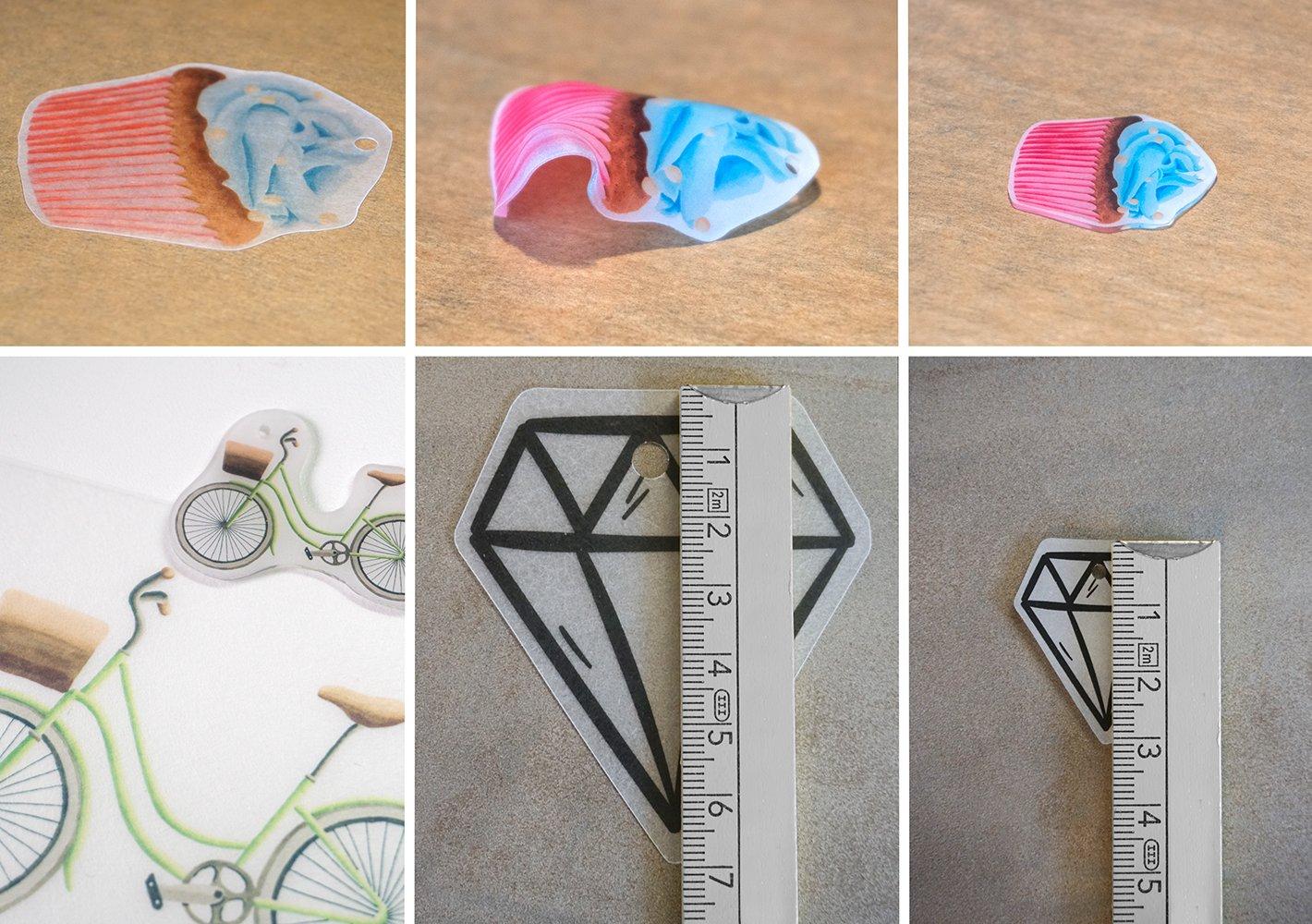 10 Feuilles Boucles doreilles et Plus pour Bijoux Porte-cl/és pour imprimantes Jet dencre SKULLPAPER imprimables Transparent Film r/étractable A4