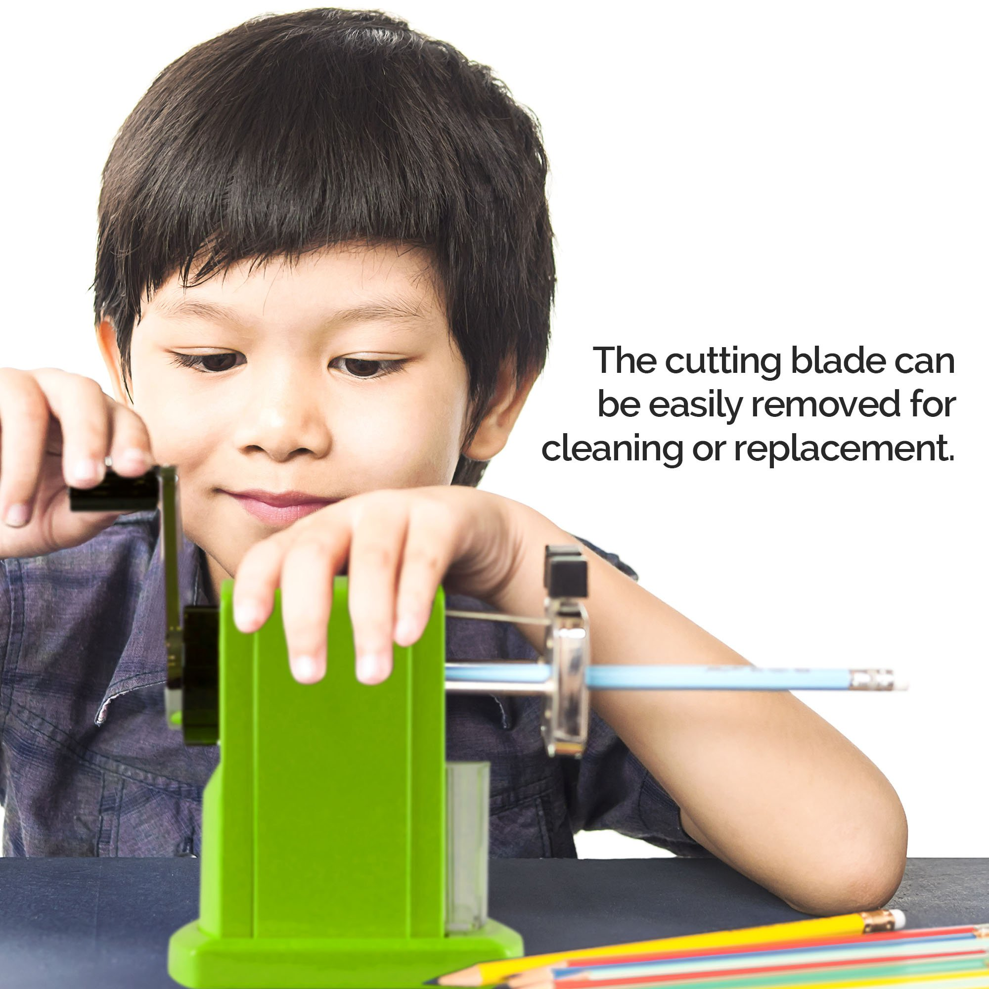 SharpTank - Portable Pencil Sharpener (Key Lime Green) - Compact & Quiet Classroom Sharpener That Gets Straight to The Point! by SHARP TANK (Image #8)