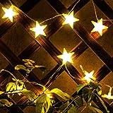 Kohree Star Fairy Lights Battery Operated Star String Lights 30 Led Lights, Warm White
