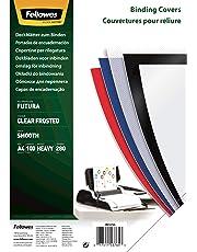 Fellowes Futura - Portadas de encuadernación (polipropileno, 100 unidades), transparente