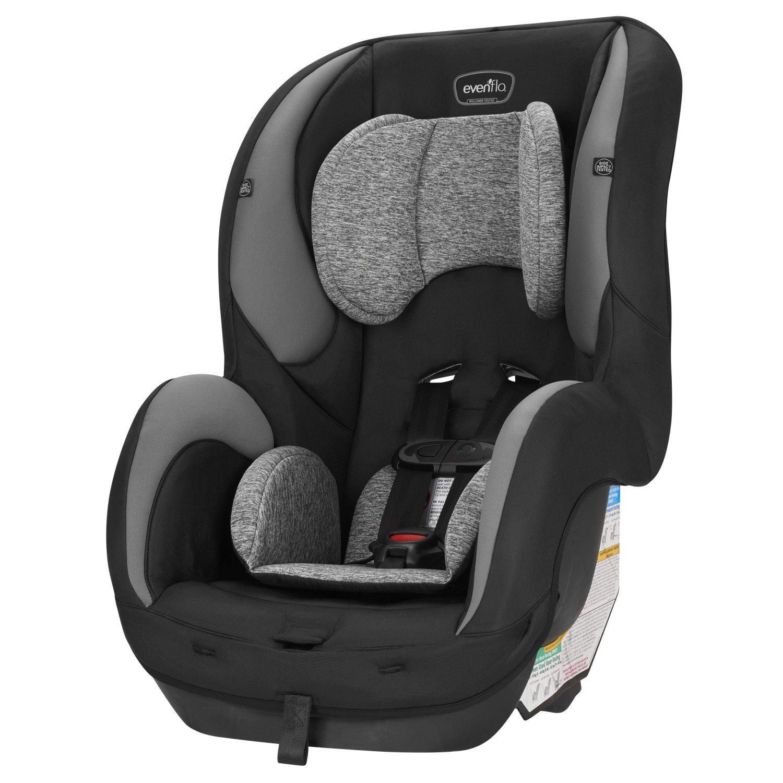 Grey Melange Evenflo SureRide DLX Convertible Car Seat Sugar Plum with Deluxe Car Backseat Organizer