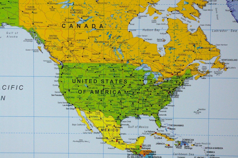 Amazon political world map on cork pinboard 24 x 36 home amazon political world map on cork pinboard 24 x 36 home kitchen gumiabroncs Choice Image