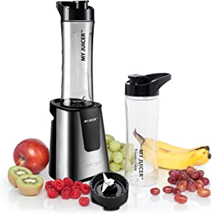 Ergo Chef My Juicer Personal Juicer II Smoothie Blender 300-Watt Stainless Steel with Extra Travel Sports Bottle