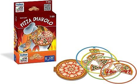 Huch & Friends 879684 Juego de Cartas Pizza Diavolo: Amazon.es: Juguetes y juegos