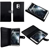 Bear Motion 100% Genuine Leather Folio Case for HTC One MAX (Black)