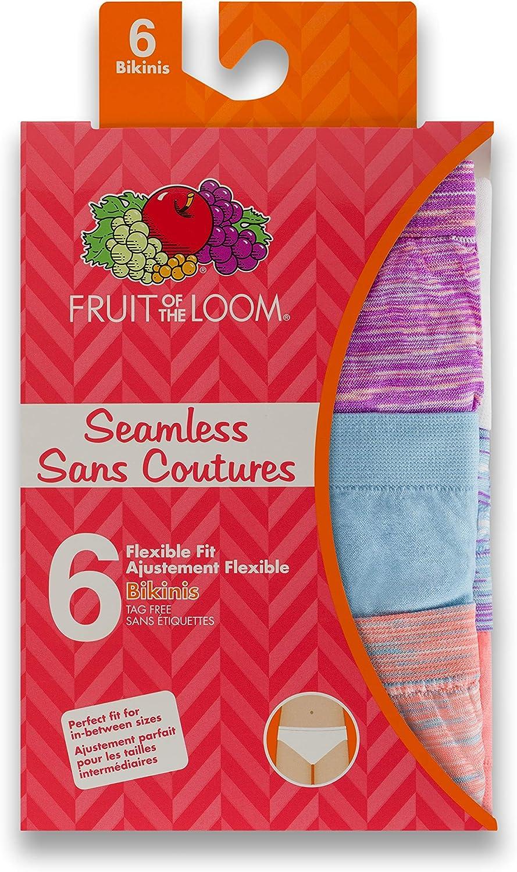 Fruit of the Loom Girls Girls Seamless Bikini 6-Pack Bikinis