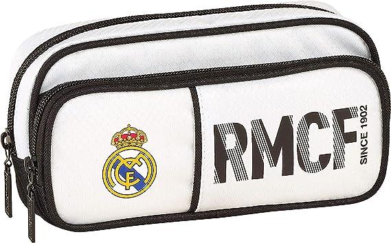 Real Madrid Equipaje para niños, Unisex, Blanco, 21 cm: Amazon.es: Ropa y accesorios