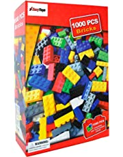 Building Blocks by EazyToys 1000 Brick PCS Value Pack for Kids 100% Compatible with all Major Brands