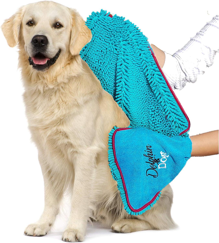 Dog Bark Collar Towel With Hand Pockets