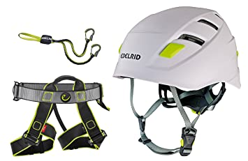 Klettersteigset Am Gurt Befestigen : Klettersteigset edelrid cable compact gurt joker helm zodiac