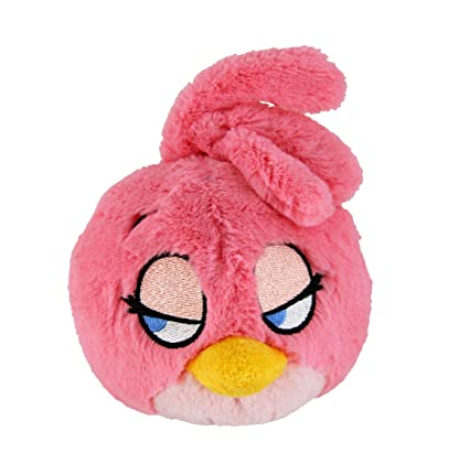 Amazon Com Angry Birds Plush 5 Inch Girl Pink Bird With Sound Toys