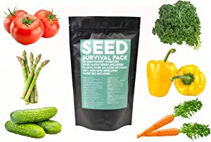Shop Succulents | Emergency Survival Garden Kit | 14,000 Non GMO Heirloom Seeds with Long Shelf Life 38 Variety Pack of Edible Fruits and Vegetables,