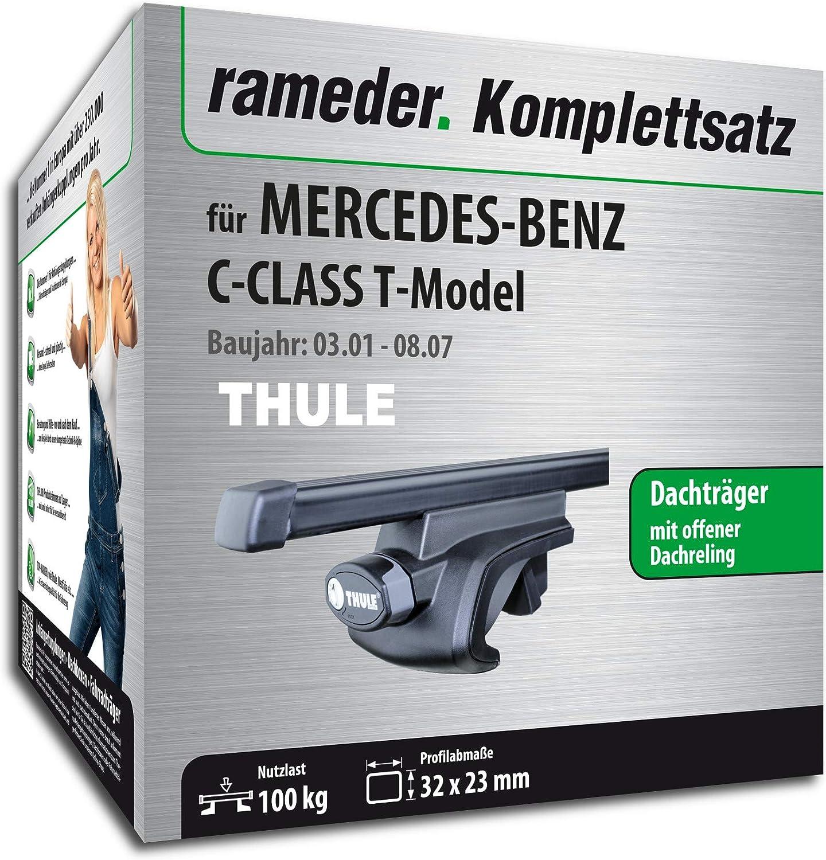 Dachtr/äger SquareBar f/ür Mercedes-Benz C-KLASSE T-Model Rameder Komplettsatz 115961-04754-3