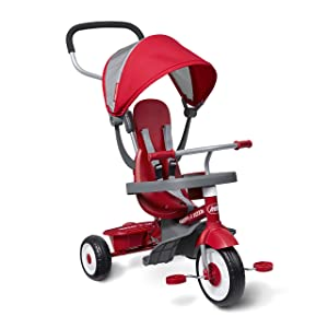"Radio Flyer 4-in-1 Stroll 'N Trike, Red, 19.88"" x 35.04"" x 40.75"""