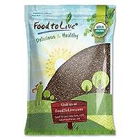 Organic Chia Seeds, 10 Pounds — Black, Vegan, Kosher, Non-GMO, Great for Smoothies
