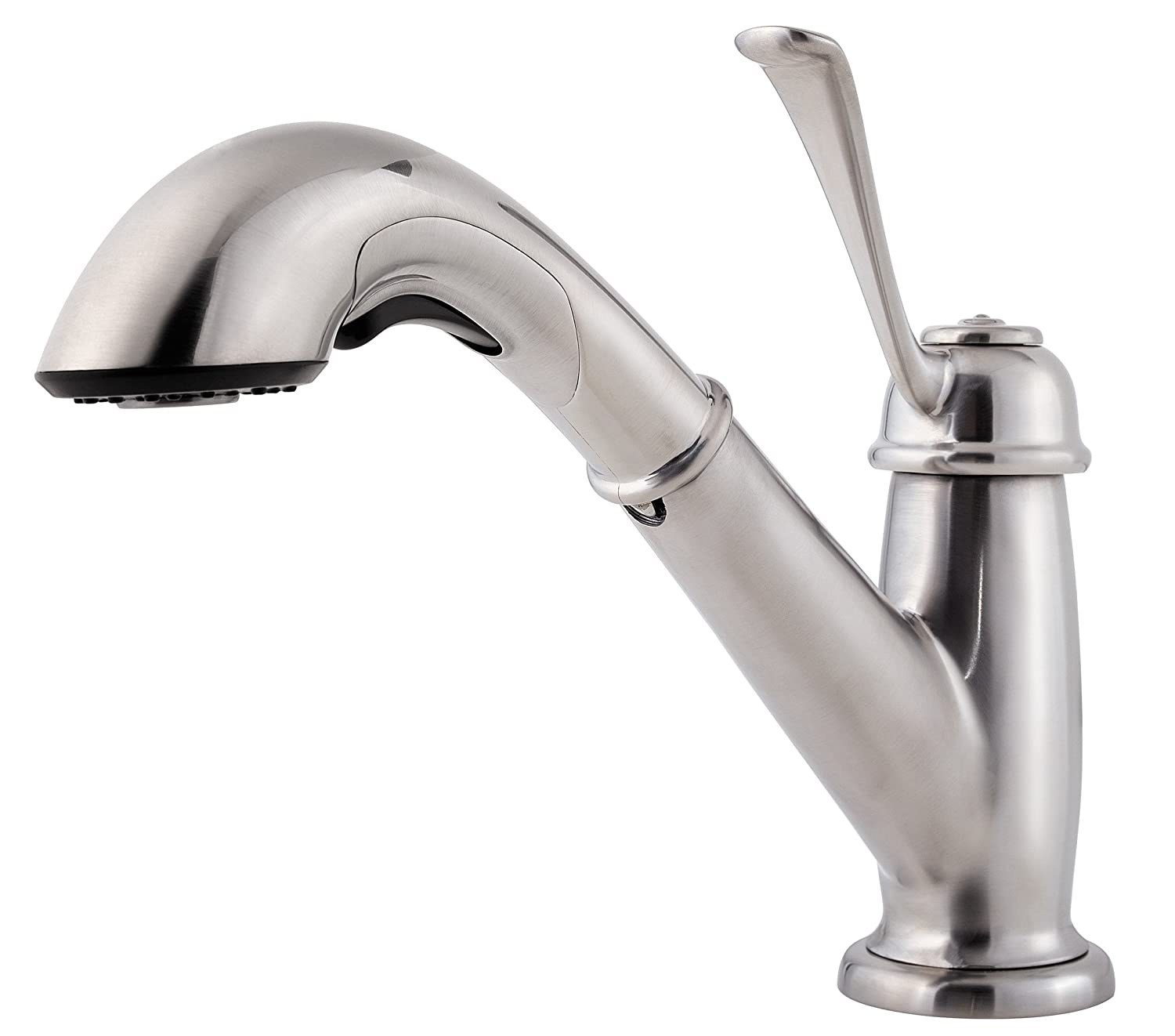 Pfister LF5385LCS Bixby 1-Handle Pull Out Kitchen Faucet, Stainless Steel,1.8 gpm