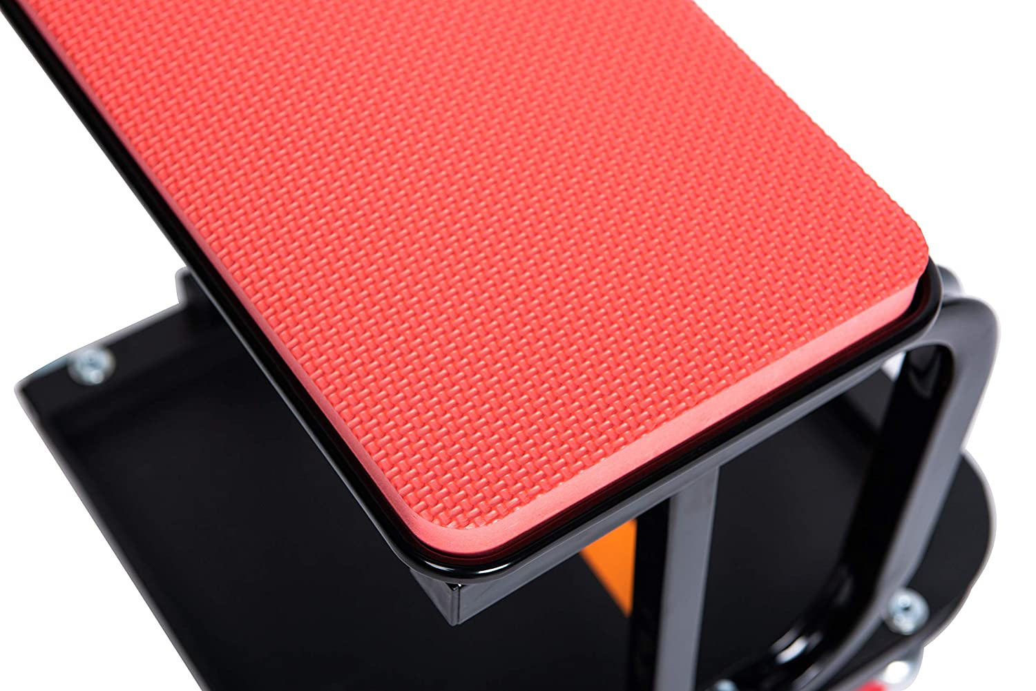 Red RTJ 300 lbs Capacity Mechanic Roller Seat with Removeable Cushion D-Frame Rolling Stool