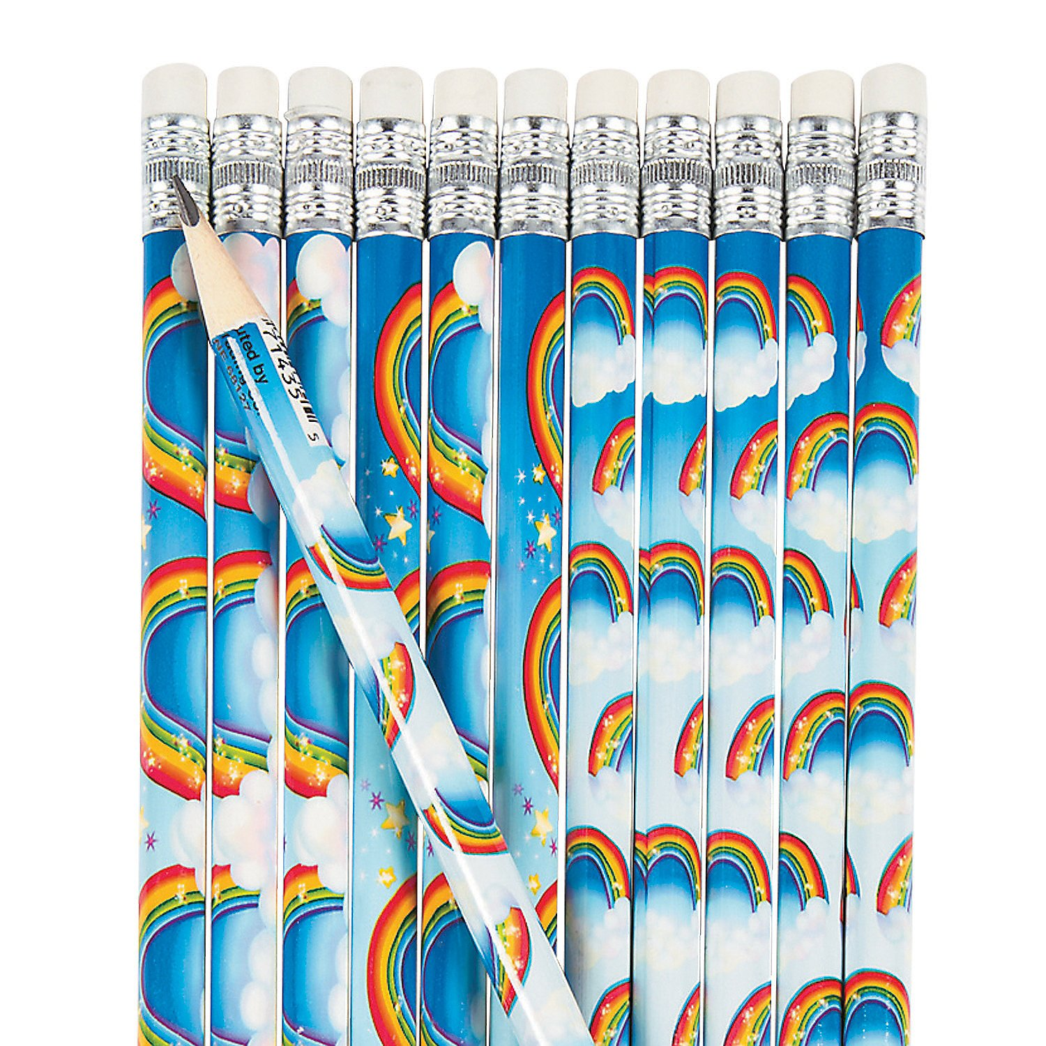 Fun Express - Rainbows & Clouds Pencils for Spring - Stationery - Pencils - Pencils - Printed - Spring - 24 Pieces