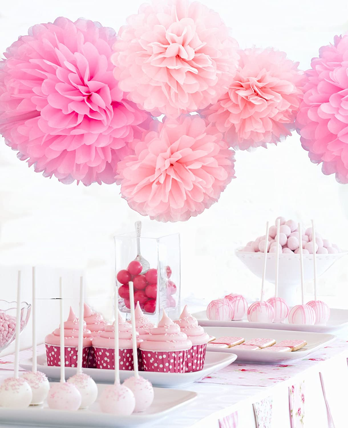 Amazon pom poms by festival hands pack of 5 2 sizes tissue amazon pom poms by festival hands pack of 5 2 sizes tissue paper flowerstissue paper pom pomswedding decorbaby shower party suppliestissue paper mightylinksfo Image collections