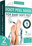 Foot Peel Mask - 2 Pack - For Cracked Heels, Dead Skin & Calluses - Make Your Feet Baby Soft & Get a Smooth Skin…