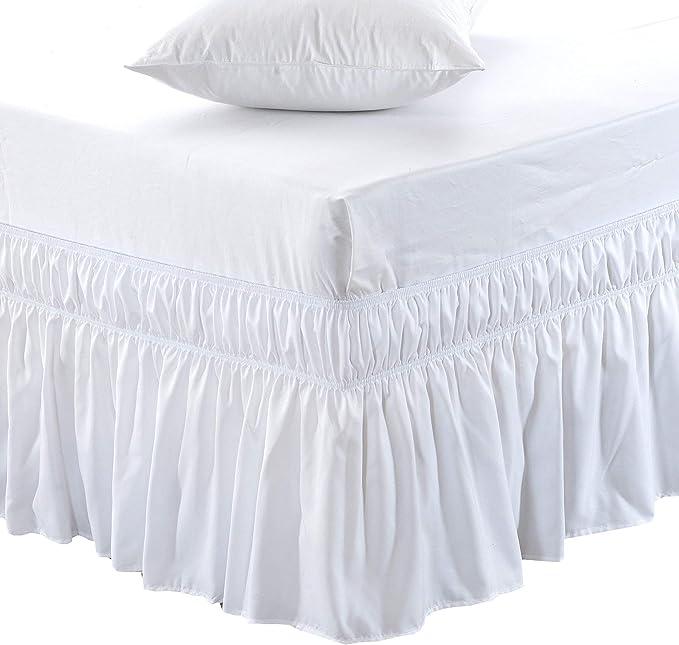 Bed Skirts Home & Garden Elegant Lace Bed Skirt Elastic ...
