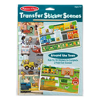 Melissa & Doug Transfer Sticker Scenes Set - Around The Town Toy (Great Gift for Girls and Boys - Best for 4, 5, 6, 7, 8 Year Olds and Up): Toys & Games