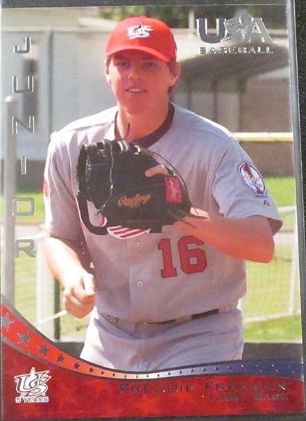 National Team 2007 USA Baseball #44 Freddie Freeman Team Rookie Card