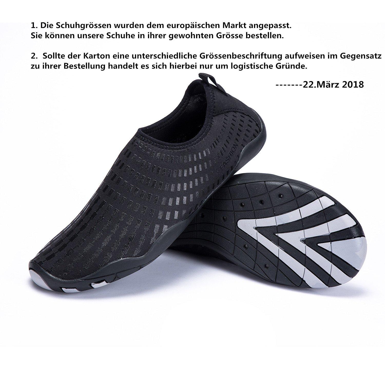 LeKuni Women's Mesh Slip on Water Shoes (12 Women/9.5 Men,42_61_Black) by LeKuni (Image #2)