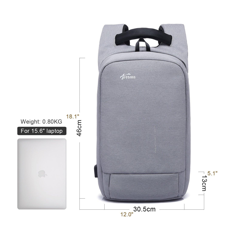 07129bea3d Fresion Sac à Dos antivol pour Ordinateur Portable Sac à Dos résistant à  l'eau avec Port de Charge USB pour 15,6 Pouces Ordinateur pour Femmes et ...