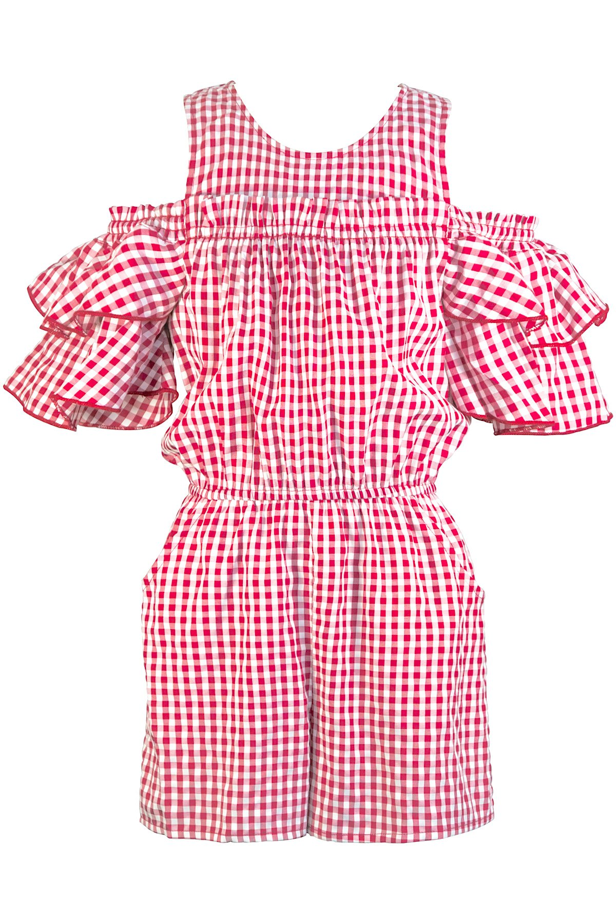Hannah Banana Truly Me, Big Girls Tween Stunning Romper (Many Options), 7-16 (7, Red Multi)