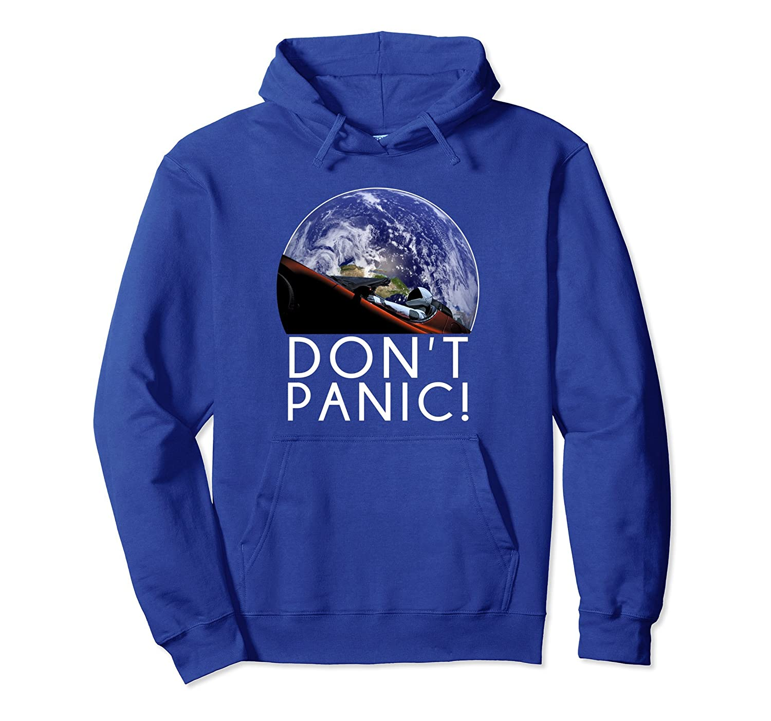 Starman Don't Panic! Space and Mars Exploration Hoodie-alottee gift