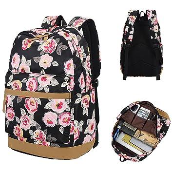 a5e6d740e775 Laptop School Travel Backpack Girls Women College Bookbags Schoolbag Floral  Daypack