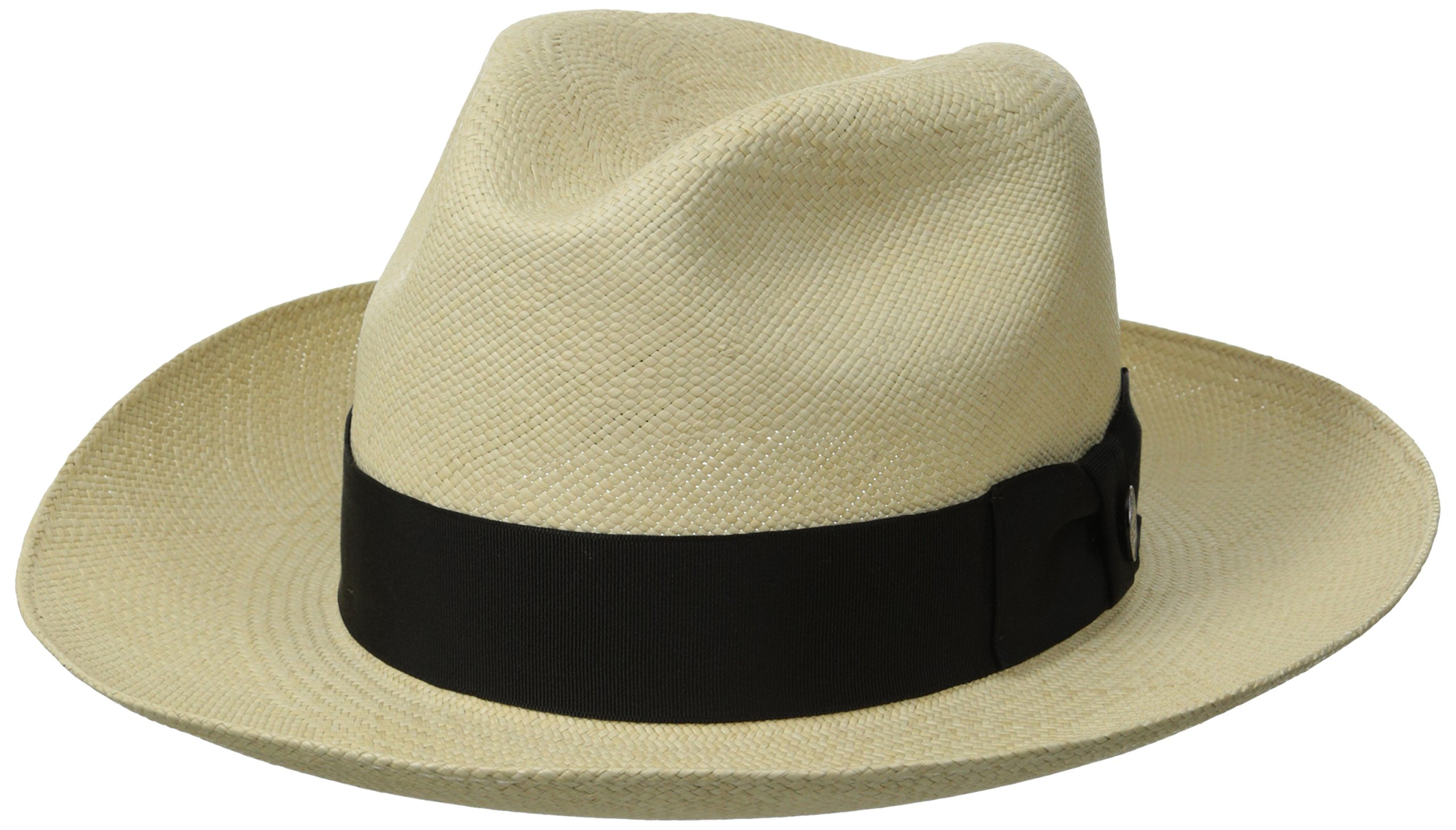 Stetson Men's Centerdent Fine Panama Hat, Natural, 7.125