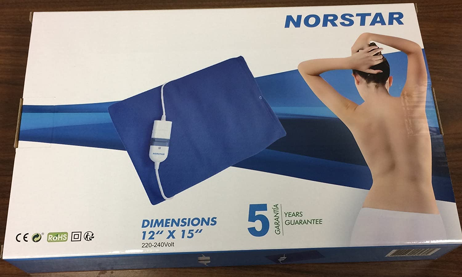 Norstar Moist and Dry Heating Pad for Overseas Use only 220/240 volt ( Will Not Work in the USA)