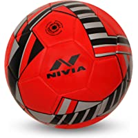 Nivia 1020RD Blade Machine Stitched Football, Size 3 (Red)