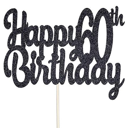CustomIslandGifts Feliz 60 ° Cumpleaños Topper de Pastel de ...