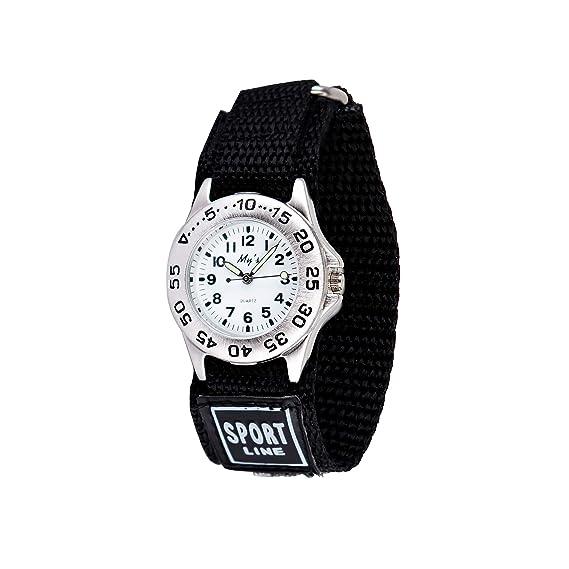 Gaigor Niño Relojes de Pulsera Deportivos para Infantiles Relojes de Cuarzo analógico Negro G022W001: Amazon.es: Relojes