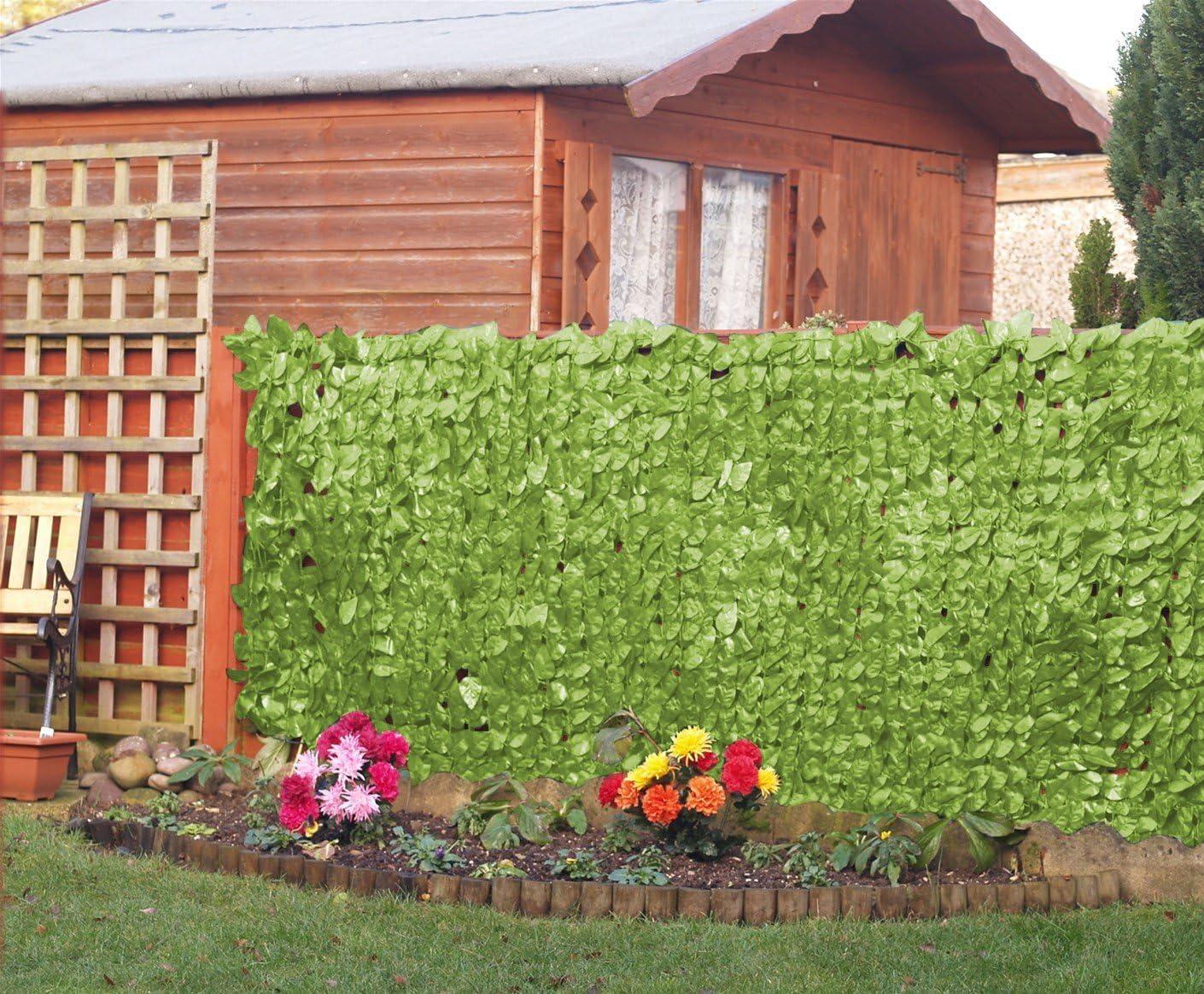 Kunstliche Hecke Sichtschutzzaun Im Efeu Stil Amazon De Garten