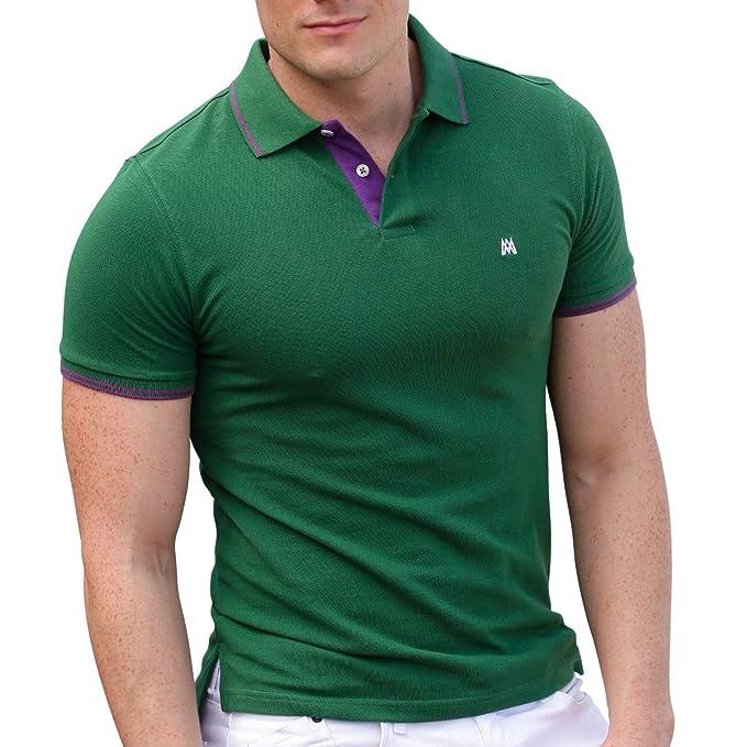 AsdruMark Camiseta Polo Shirt para Hombres, Verde: Amazon.es: Ropa ...