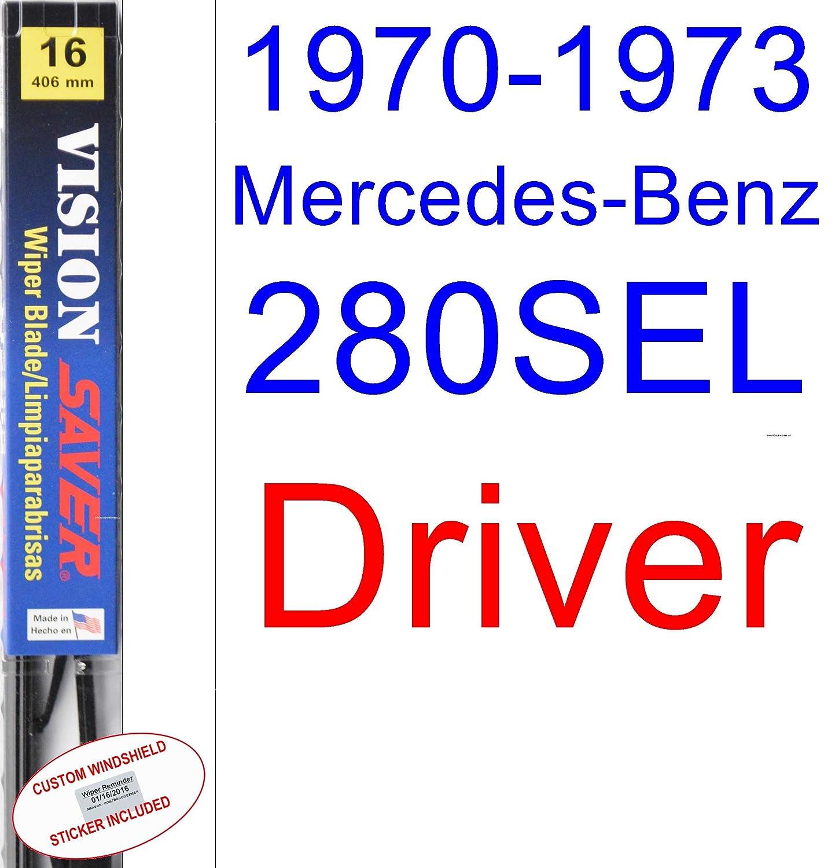 Amazon.com: 1970-1973 Mercedes-Benz 280SEL Wiper Blade (Driver) (Saver Automotive Products-Vision Saver) (1971,1972): Automotive